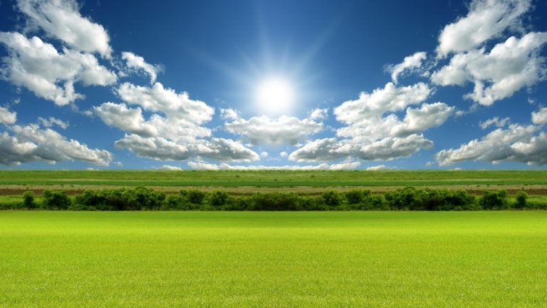 Nature Fields Sun Clouds Wallpaper Hd For Pc